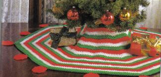 crochetembroider poinsettia tree skirt