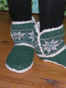 Snowflake Slippers 255 x 340
