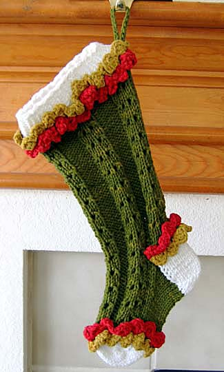 Knitting Pattern For Christmas Stocking Free : More Christmas Stockings to Knit   18 free patterns   Grandmothers Patte...
