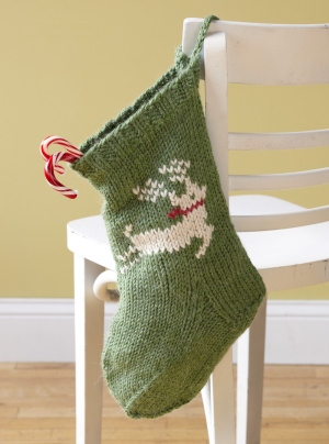 Free Stocking Knitting Pattern : Knit Christmas Stockings   17 free patterns   Grandmothers Pattern Book