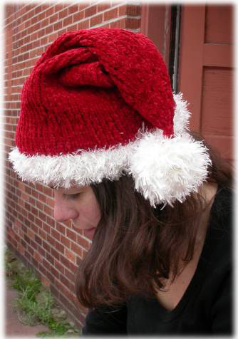 Knitting Pattern Christmas Hat : Knit Santa! Dolls, Hats, Mittens, Ornaments, More   27 free patterns   Grandm...
