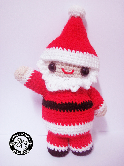 Crochet Santa Dolls Ornaments Sweaters Hats Pillows Aprons