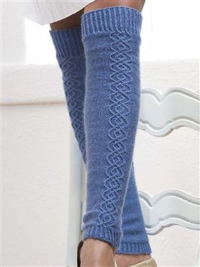 Free Knitting Pattern Ribbed Leg Warmers : Knit Leg Warmers   23 free patterns   Grandmothers Pattern Book