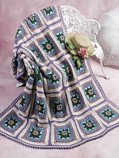 More Roses Afghans To Crochet 15 Free Patterns