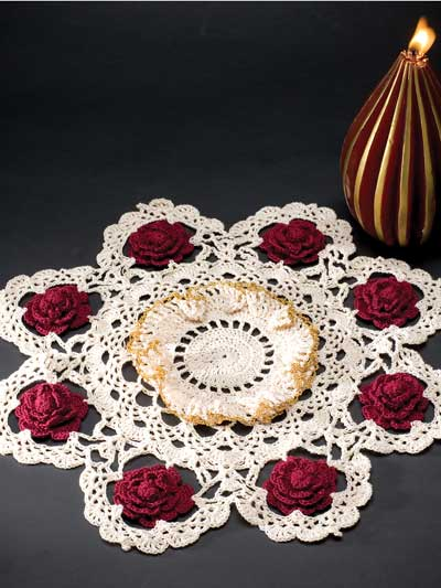 Beautiful Rose Doilies To Crochet Free Patterns