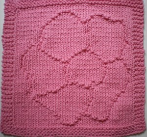 Pink Wild Rose Dishcloth Again 002