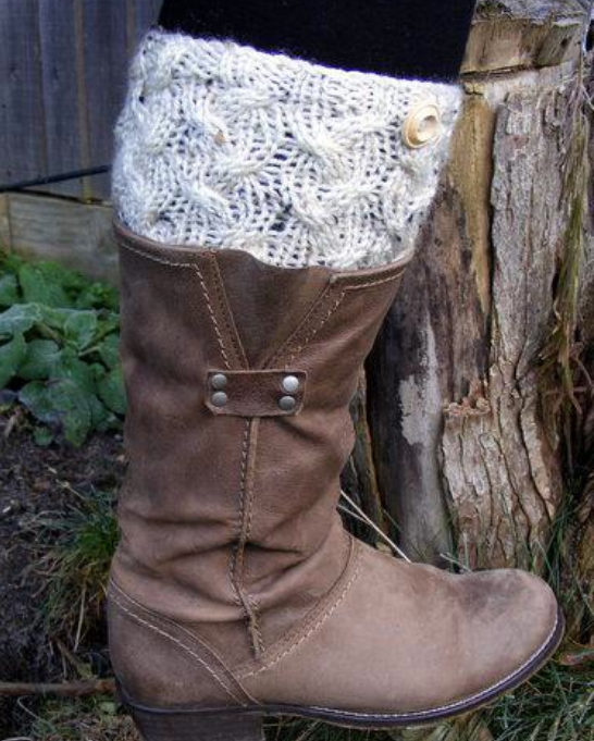 Knit Boot Cuffs 15 Free Patterns Grandmothers Pattern Book