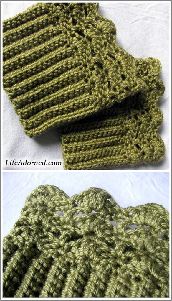 Free Knitting Pattern For Boot Cuffs : Crochet Boot Cuffs and Toppers   19 free patterns   Grandmothers Pattern...