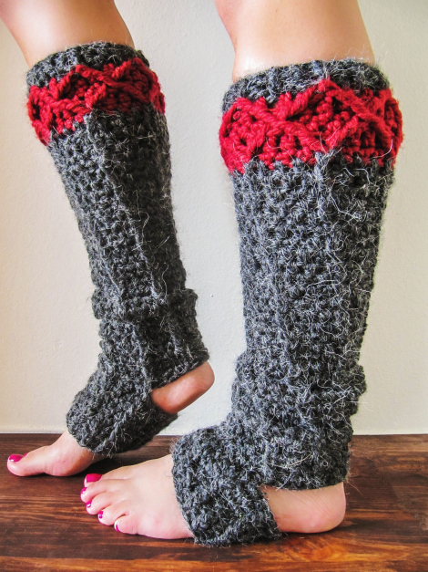 Free Knitting Pattern Baby Leg Warmers : More Leg Warmers to Crochet   7 free patterns   Grandmothers Pattern Book