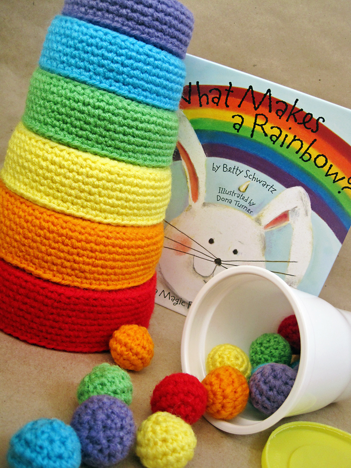 Free Crochet Pattern Newborn Nesting Bowl : More Rainbows to Crochet ? 21 free patterns ? Grandmother ...