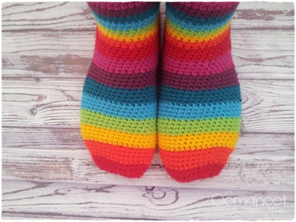 Free Crochet Patterns For Slippers And Socks : More Rainbows to Crochet ? 21 free patterns ? Grandmother ...