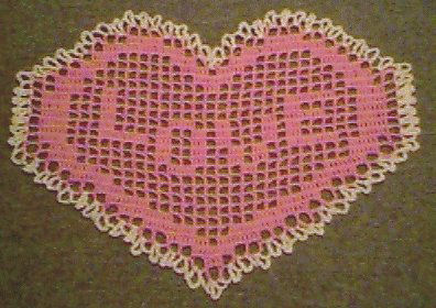 Free Crochet Pattern For Heart Doily : Lovely Heart Doilies to Crochet ? 14 free patterns ...