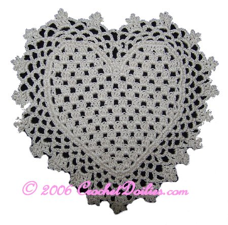Free Crochet Pattern For Heart Doily : free filet crochet doily patterns Quotes