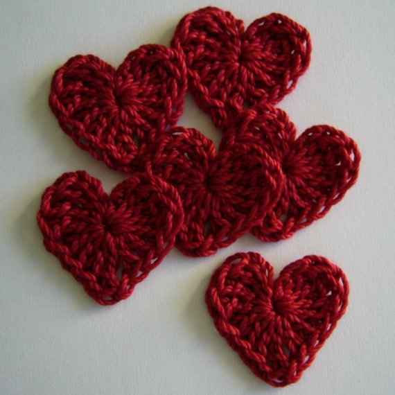 Crochet Heart : mini crochet hearts