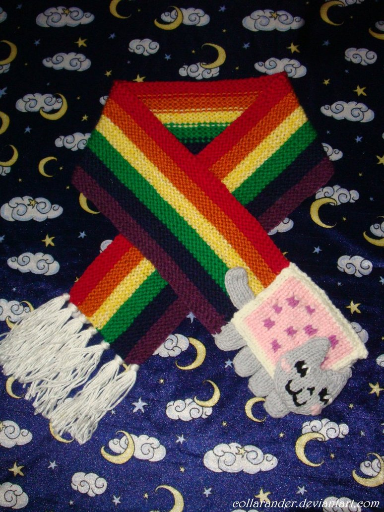Nyan Cat Scarf Crochet Pattern Free : More Rainbows to Knit ? 25 free patterns ? Grandmothers ...