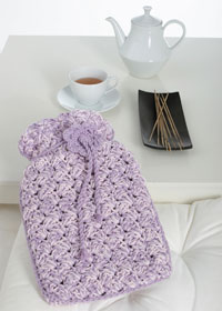 Knit a hot water bottle cover :: free knitting pattern