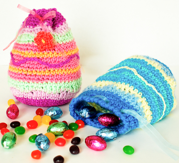 Crochet easter eggs 24 free patterns grandmothers pattern book easter treat bags 2 of 2 dt1010fo