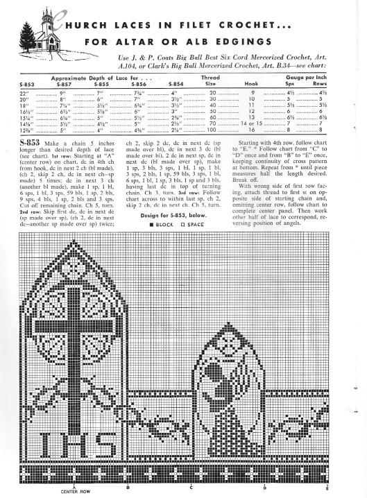 Christian Symbols in Filet Crochet – free patterns – Grandmother\'s ...