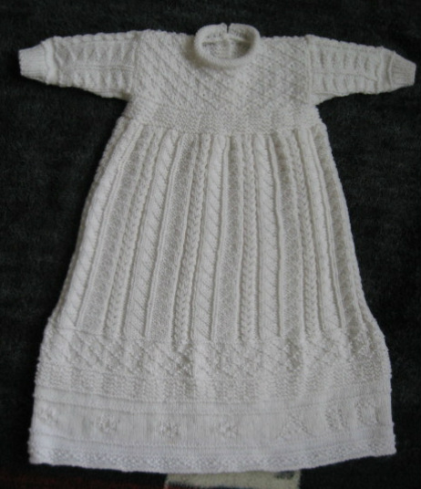 Free Knitting Pattern Baby Christening Gown : Christening Sets to Knit for Baby   11 free patterns   Grandmothers Patt...