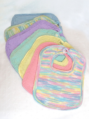 Cute, Handsome or Pretty   Bibs to Knit for Baby   free patterns   Grandmothe...