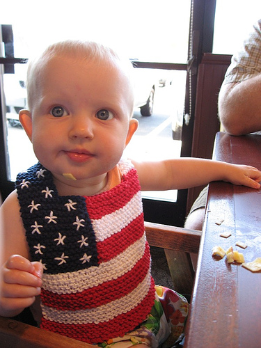 Cute Handsome Or Pretty Bibs To Knit For Baby Free Patterns