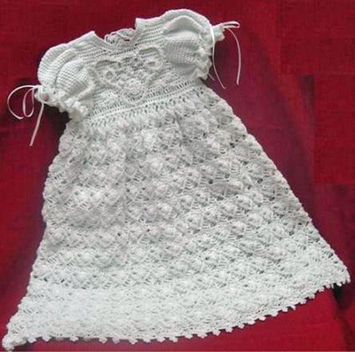 Free Knitting Pattern Baby Christening Gown : Christening Sets to Crochet for Baby   9 free patterns   Grandmothers Pa...