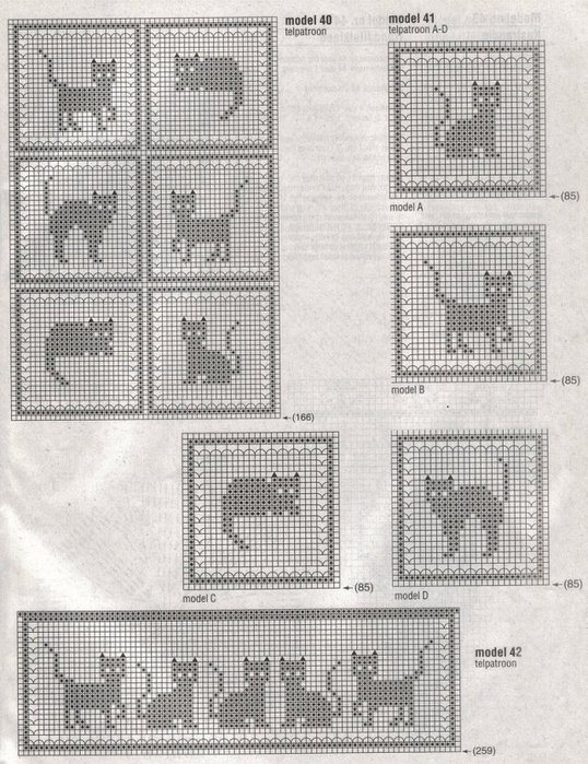 Cat Afghans To Knit And Crochet Free Patterns Grandmothers