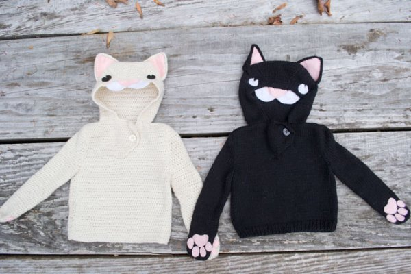 Cats In Your Wardrobe – free patterns to knit and crochet