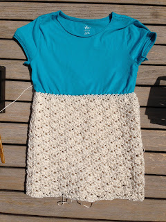 Reader Request – How to Crochet A Skirt on a Tee Shirt