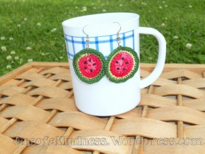 crochet-watermelon-earrings-ooak-1