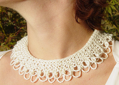 Knitted Jewellery Patterns : Pretty Collars to Knit   12 free patterns   Grandmothers Pattern Book