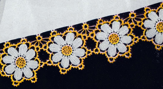 Crochet Flower Trims And Edgings For Clothing Linens 16 Free