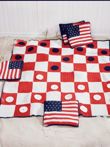Summer Crochet – Red, White and Blue – free patterns