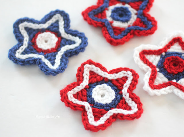 Patriotic Crochet Red White And Blue 55 Free Patterns From