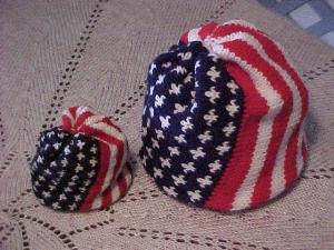 Summer Knitting – Red, White and Blue – free patterns