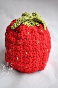 strawberry baby beanie hat