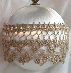 antiquesatinandlaceornament