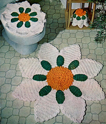 Vintage Bathroom Sets To Crochet Free Patterns Grandmothers