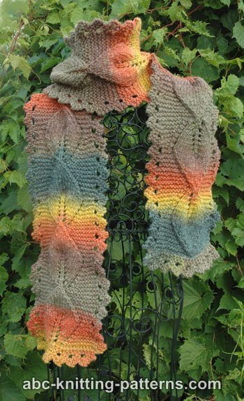 Knit Leaves And Leaf Designs For Autumn Free Patterns