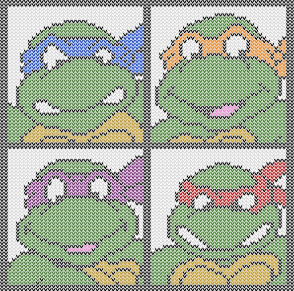 Ninja Turtles To Knit And Crochet Free Patterns Grandmothers
