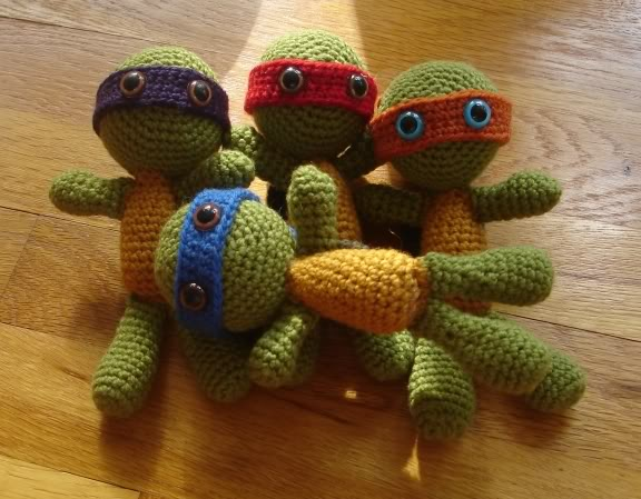 Ninja Turtles to knit and crochet ? free patterns ...