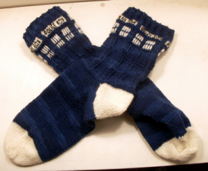 Knitting Pattern For Tardis Socks : Dr. Who Knits   free patterns   Grandmothers Pattern Book