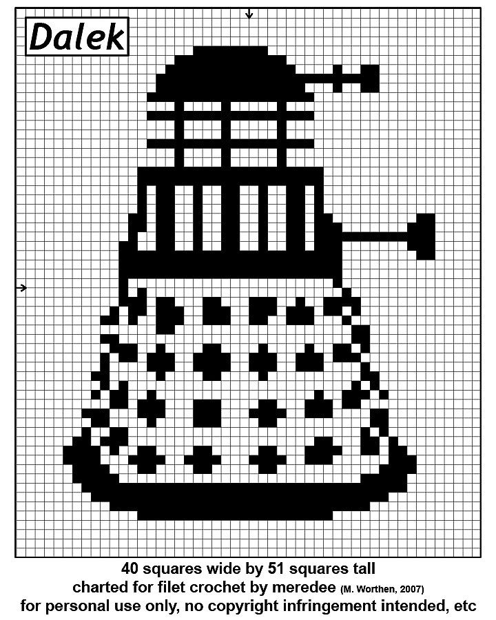 Dr Who Knitting Pattern : More Dr. Who Crochet   free patterns   Grandmothers Pattern Book