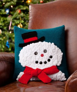 Snowman Cushion Knitting Pattern : Christmas Afghans and Pillows to Knit Now   free patterns   Grandmothers...