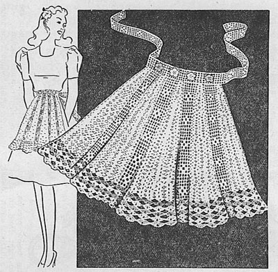 Pretty in the Kitchen – knit or crochet an Apron – free patterns ...