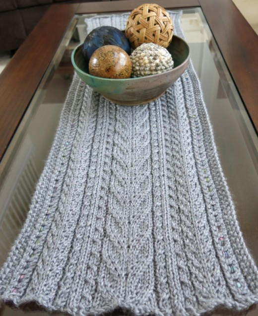 Knit table runners free patterns grandmother s pattern book