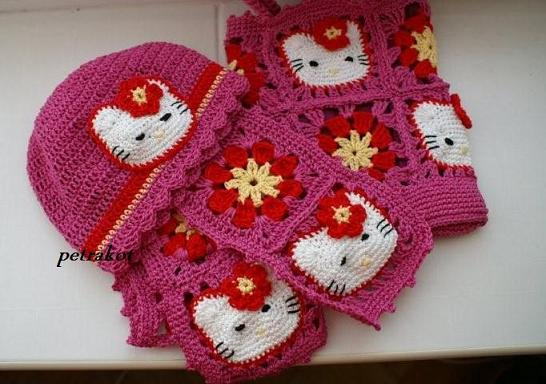 Free Crochet Pattern For A Hello Kitty Hat : Animal Scarves to Crochet ? free patterns ? Grandmothers ...