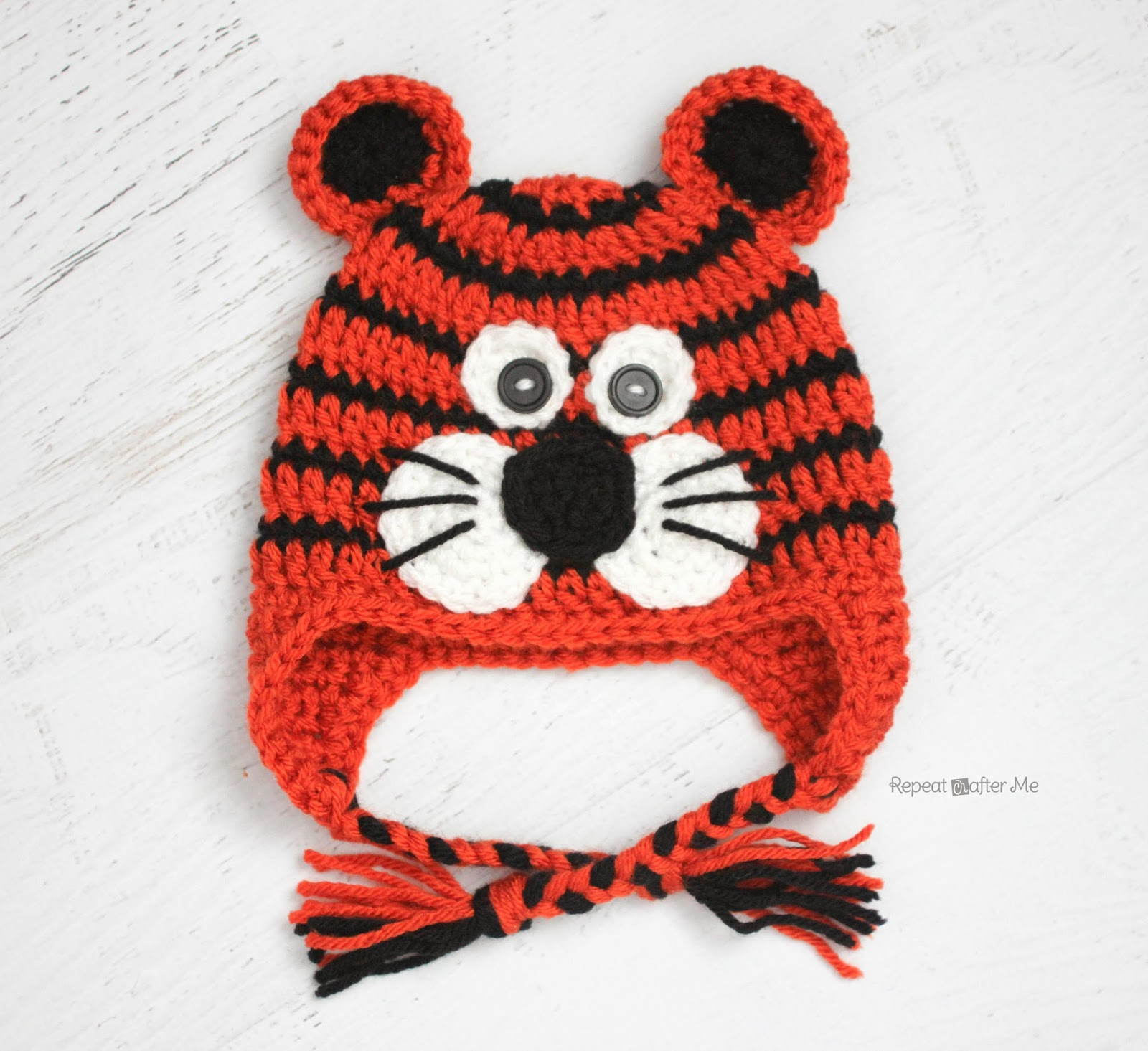Free Crochet Tiger Hat Pattern