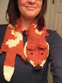 Free Crochet Pattern Fox Scarf : Animal Scarves to Knit ? free patterns ? Grandmothers ...