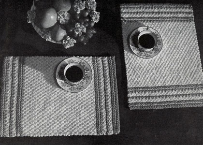 Place Mats To Knit For Your Autumn Table Grandmother S